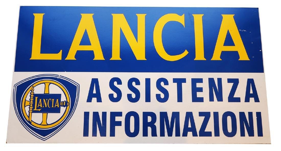 Lancia Service sign 'Assistenzia Informazioni' late 70s