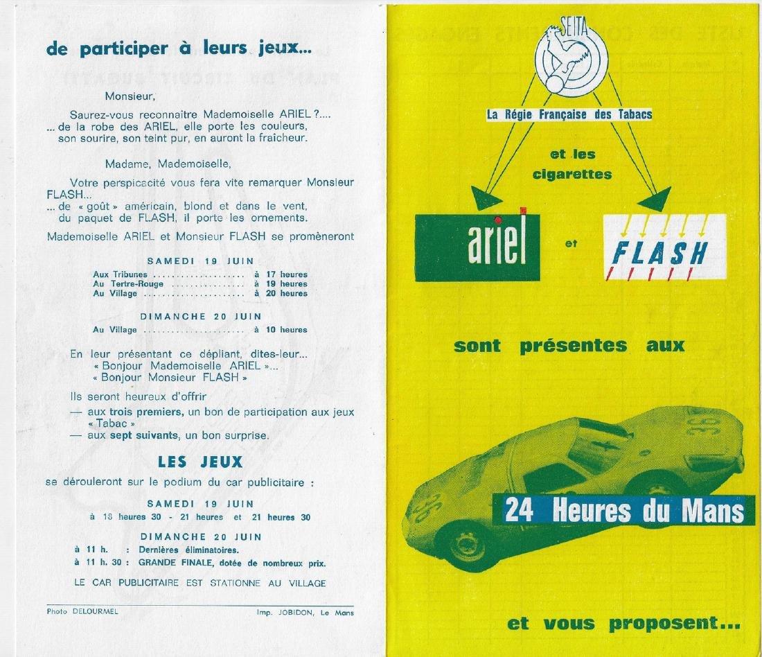 Le Mans 1965 Advertisement flyer subject Porsche 904
