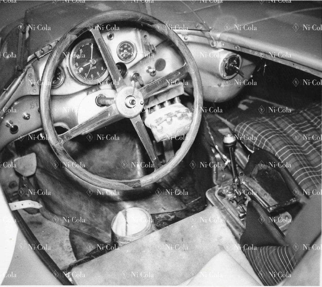 Mercedes-Benz Original b/w press photo cockpit Mercedes
