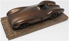 Mercedes-Benz Bronze sculpture W 196 with engraving