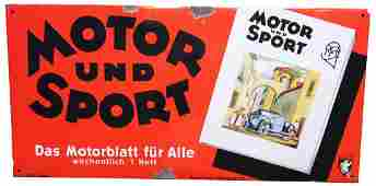 Motor & Sport Emaile sign from manufacturer Ferro Email