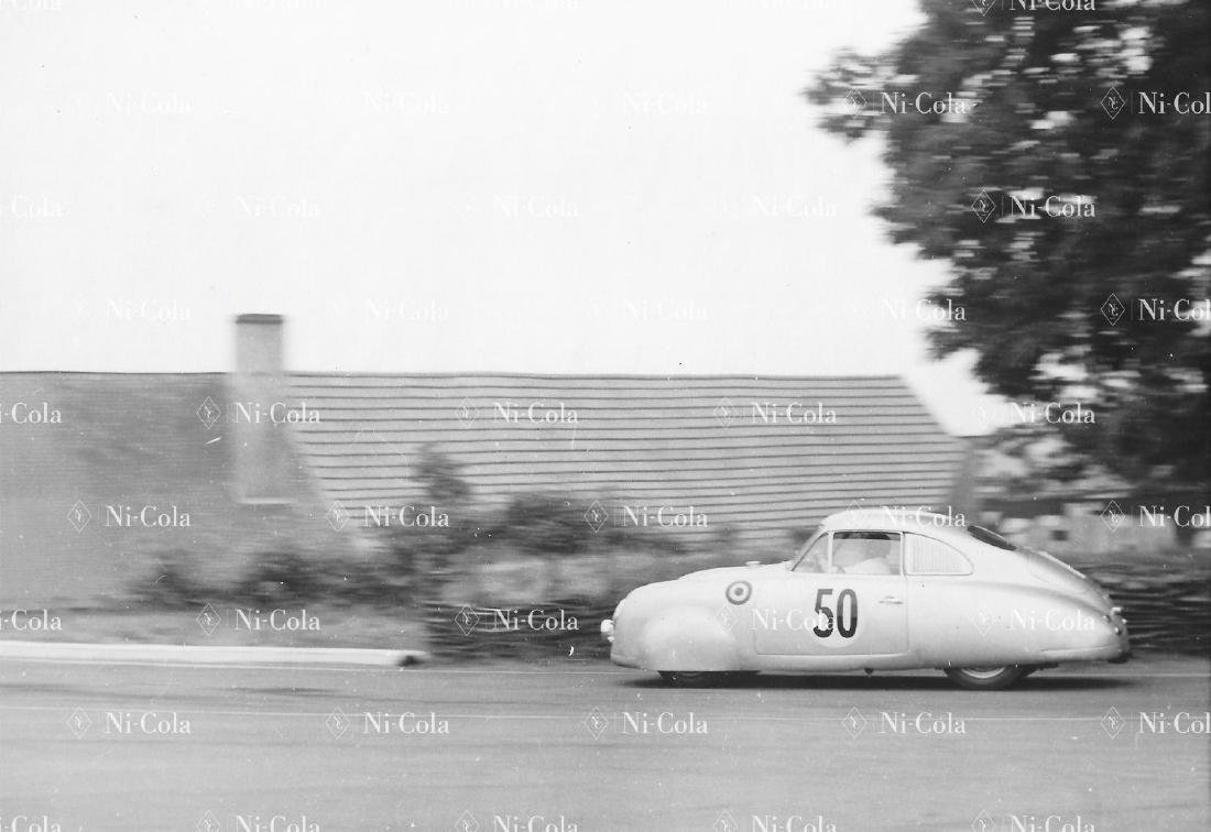 Porsche Original b/w press photo Le Mans 1952 Porsche
