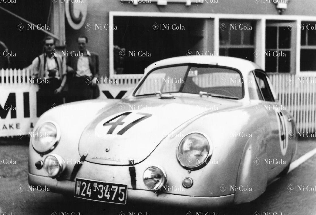 Porsche Original b/w press photo Le Mans 1952 Porsche