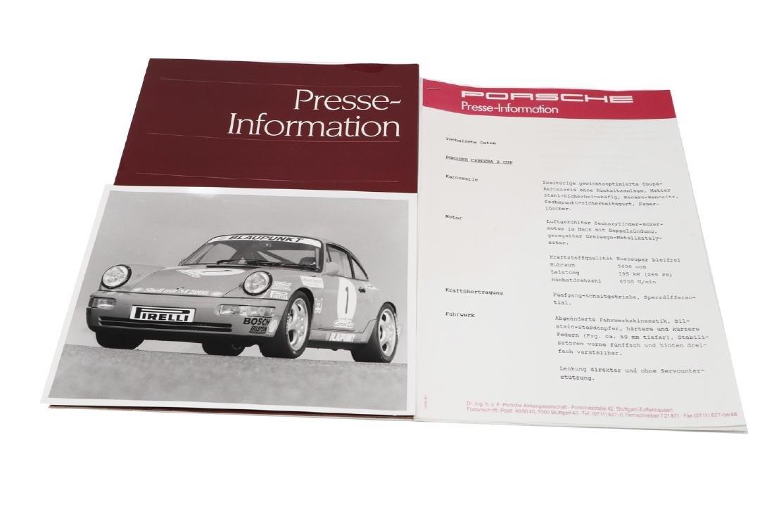 Porsche Press kit Carrera 2 Cup car production series
