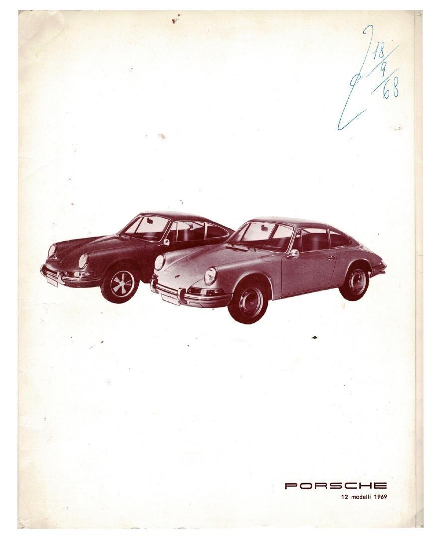 Porsche Press kit type 911 S 911 E 911 T 912 from 1968