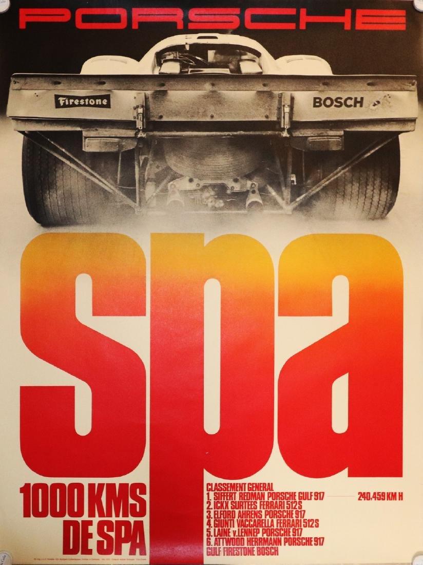 Porsche Poster '1000 KMS de Spa' from 1970