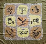 Porsche Silk scarf with Porsche subjects from the 50s