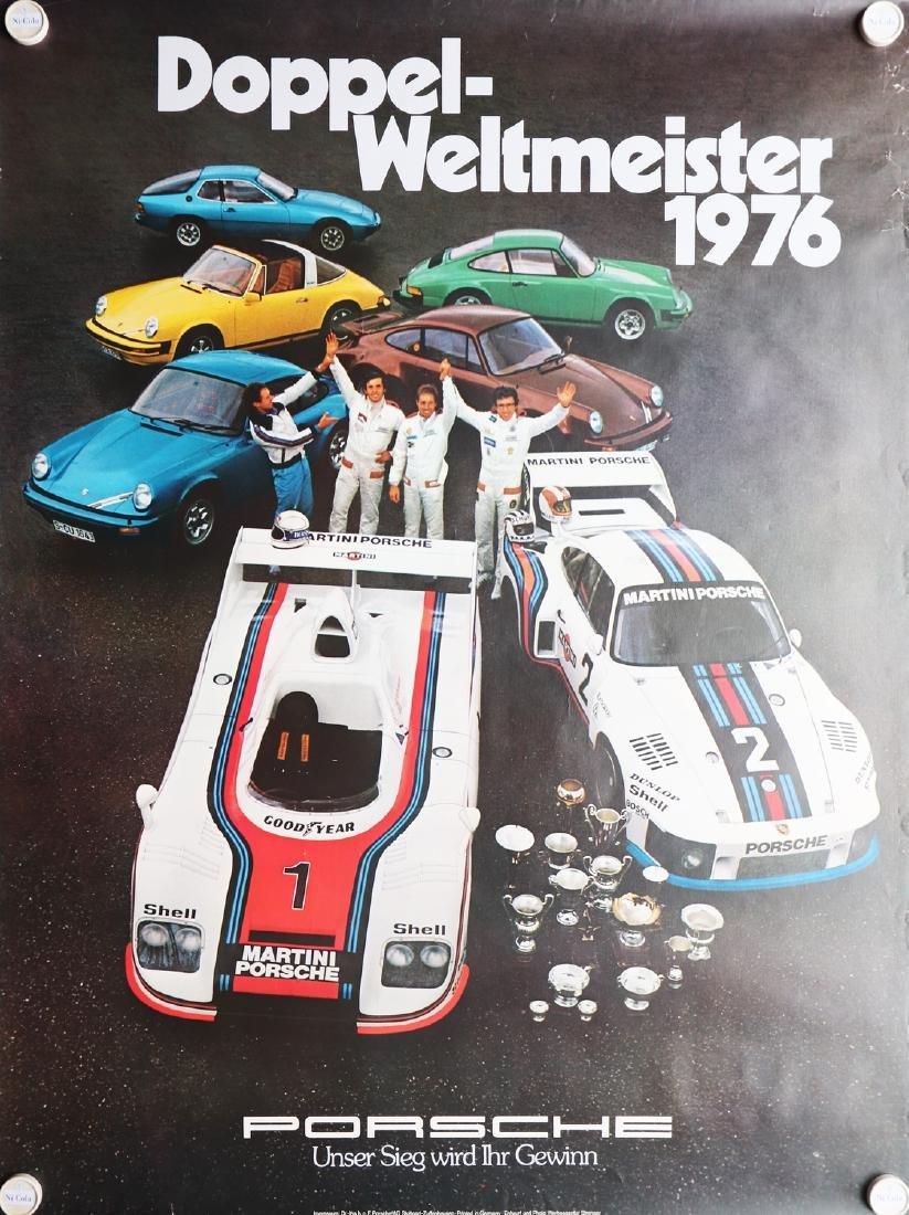 Porsche Poster double world champion 1976