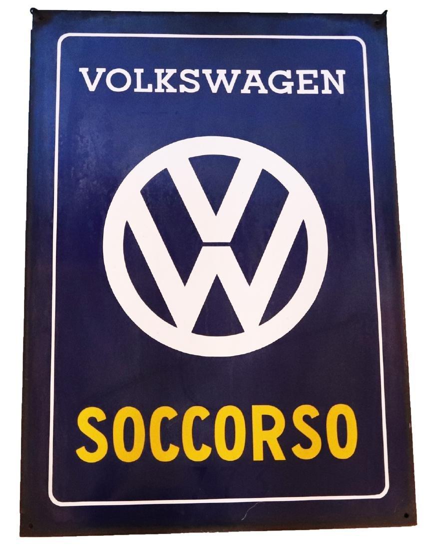 Volkswagen Enamel sign 'Soccorso'