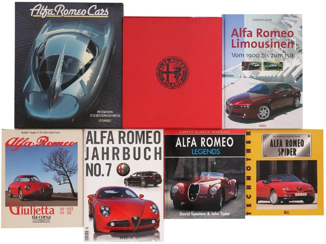 Alfa Romeo Mixed lot with 7 books