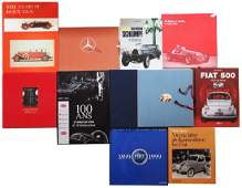 Automobilia Mixed lot with 10 books subject automobile