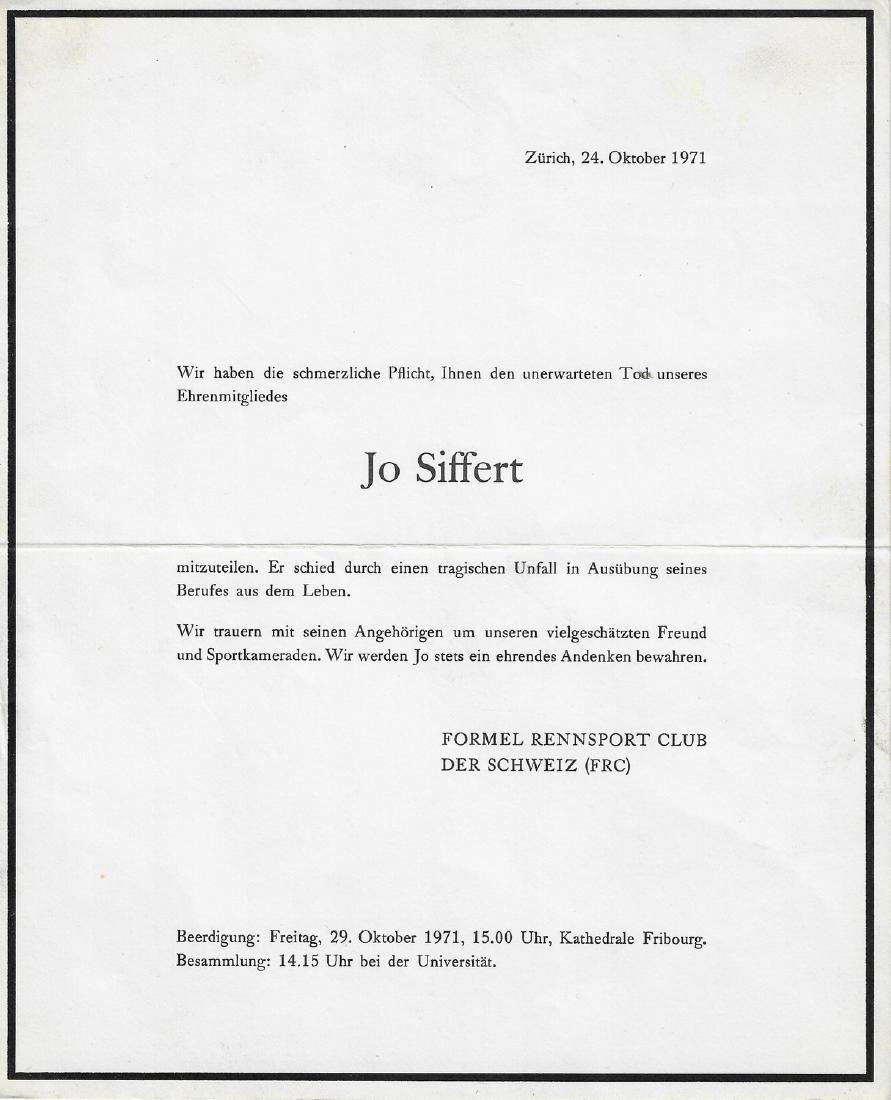 Jo Siffert Obituary from 1971