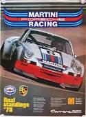 Porsche Poster Martini Racing  final standings 73