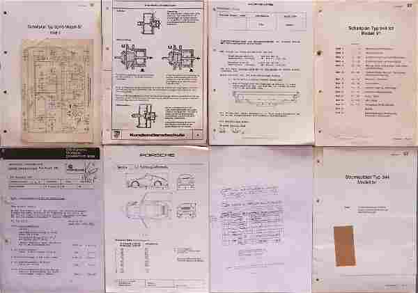 Porsche Numerous documents / copies from the 80s/90s