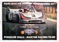 Porsche Poster 'Porsche 908/3 - Martini Racing Team -