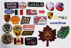 Automobilia 20 patches and 5 stickers from the 80s