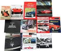 Buch 11 books on the subject of Ferrari and Maserati