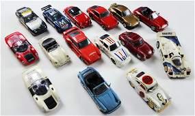 Porsche 15 Model cars