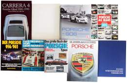 Porsche 9 books from the 70s - 2000s