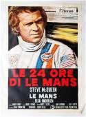 Steve Mc Queen Movie poster 'Le 24 Ore di Le Mans -