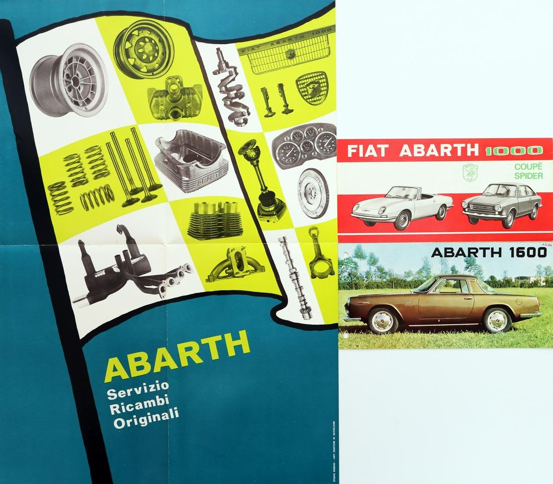 Abarth 3 brochures from the 60s / 70s