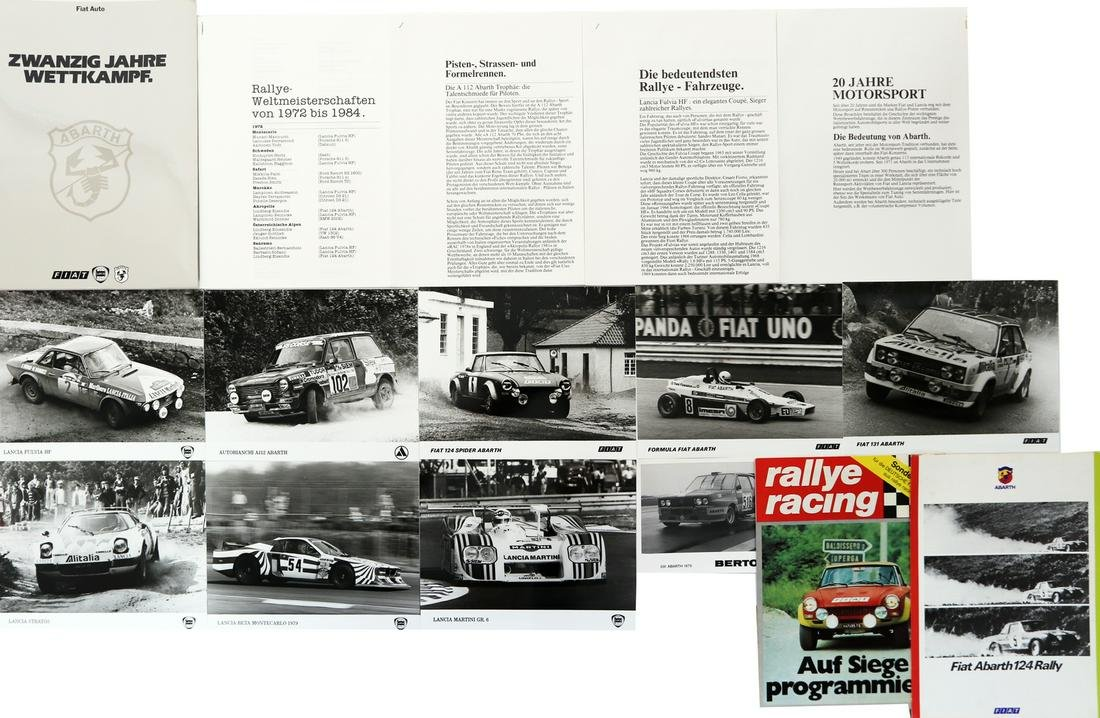 Abarth 4-pieces different documents