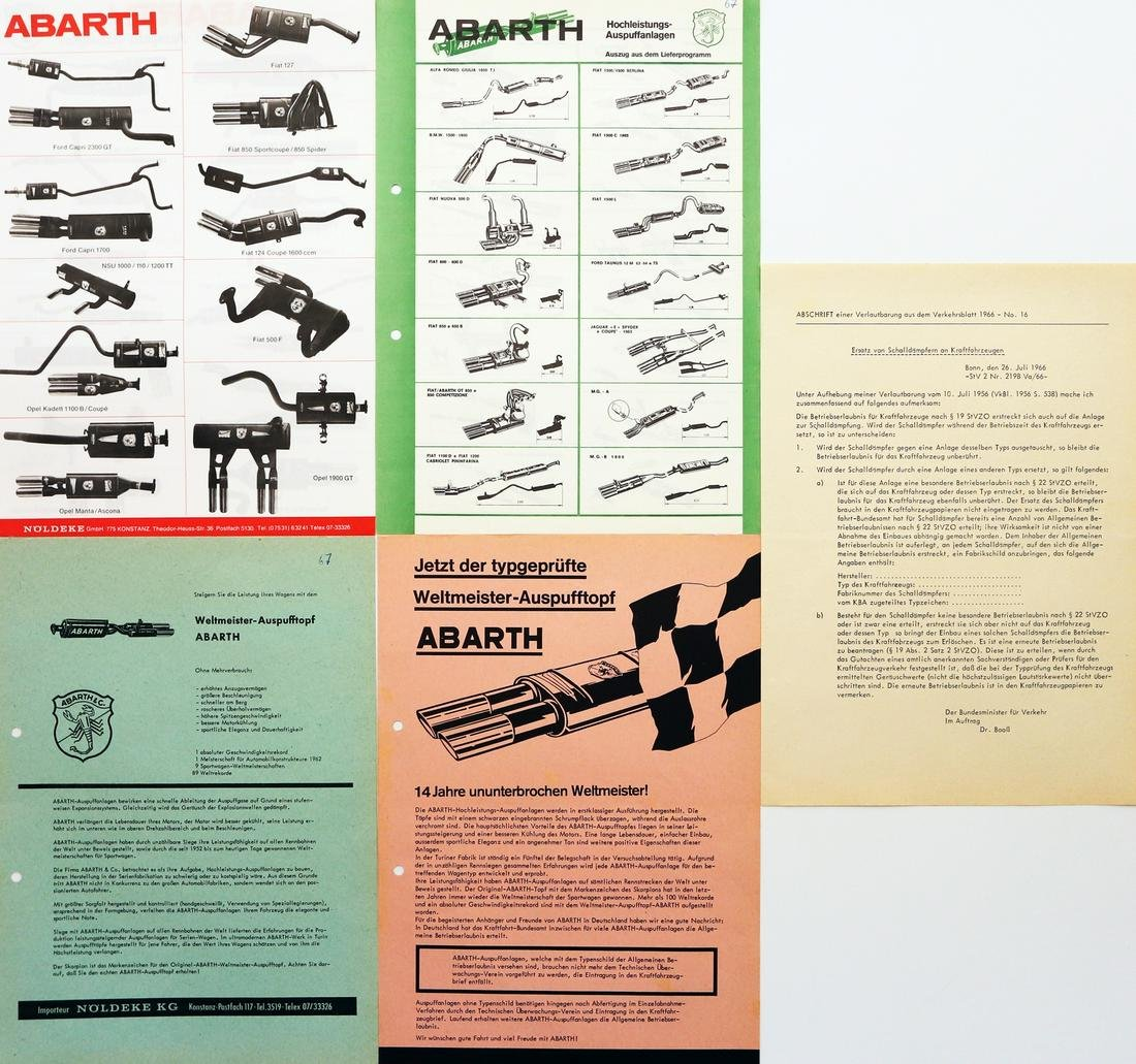 Abarth 5 brochures Abarth exhaust systems from the mid