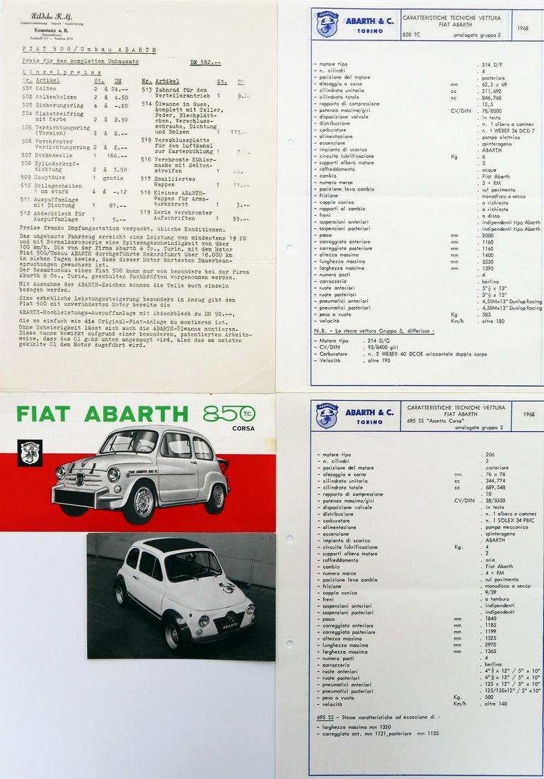 Abarth 5-pieces different documents