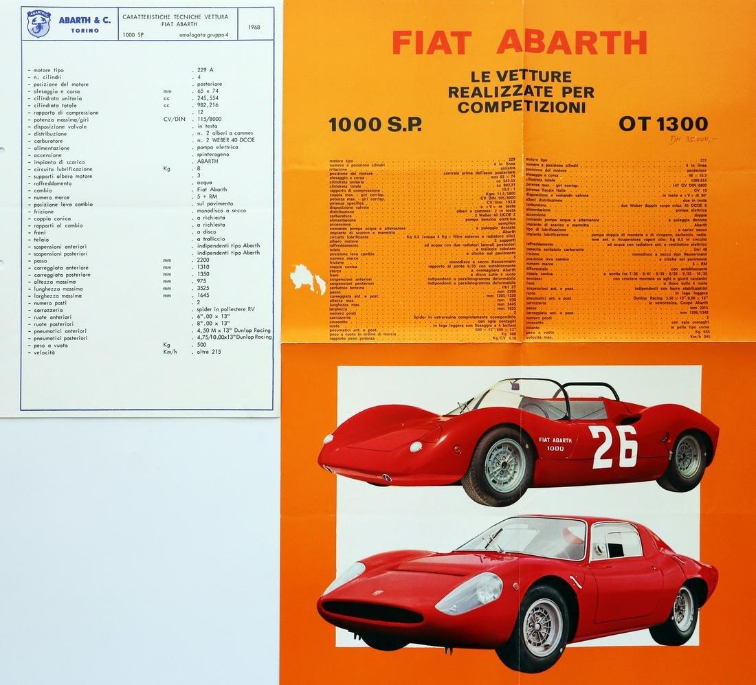 Abarth Fold-out brochure 1000 SP / OT 1300