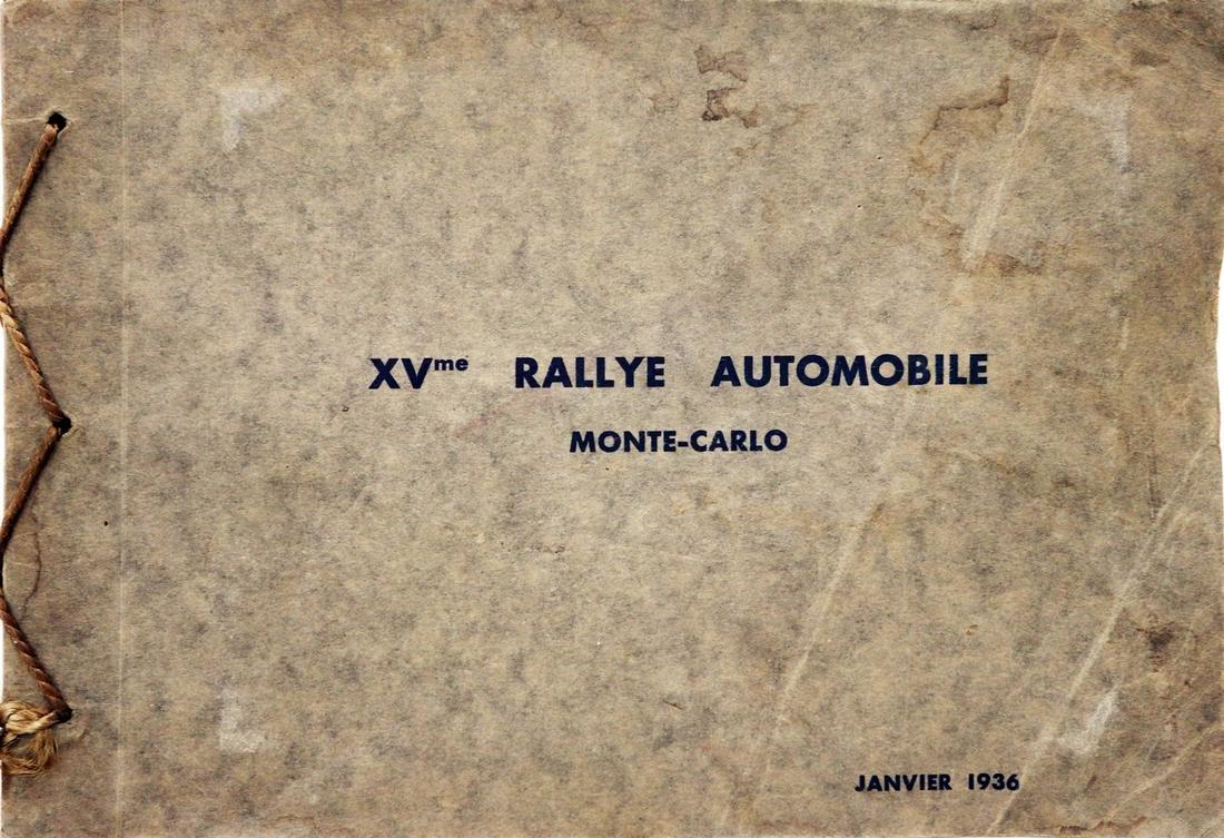 Automobilia Photo album 'XVme Rallye Automobile Monte