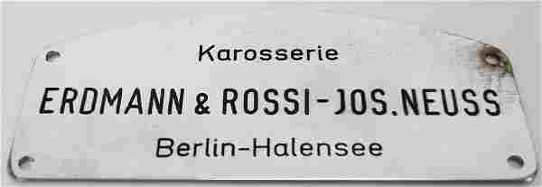 Erdmann & Rossi Karosserie Original coachwork emblem