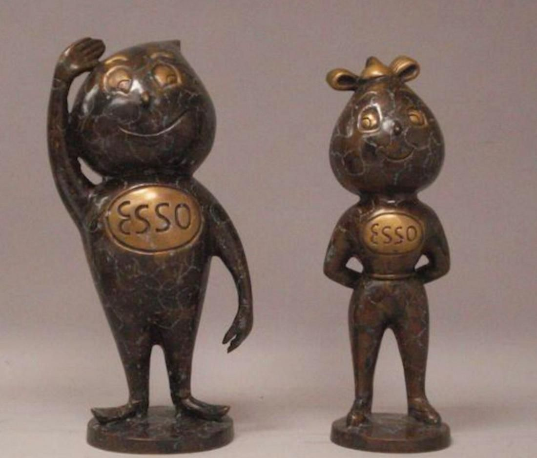 Esso 2 original bronze statues from the 60s