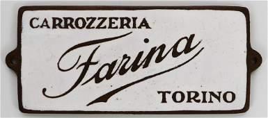 Farina Carrozzeria Torino Original coachwork emblem
