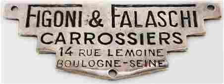 Figoni & Falaschi Carrossiers Original coachwork emblem