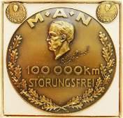 MAN Badge '100 000 Km Störungsfrei - Rudolf Diesel'