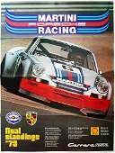 Porsche Poster 'Martini Porsche Racing final standings