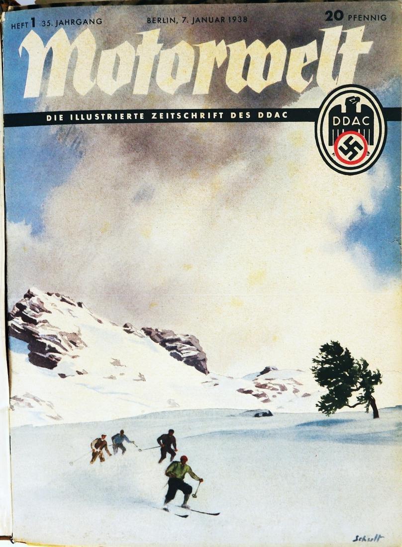 Zeitschrift Motorwelt DDAC year 1938