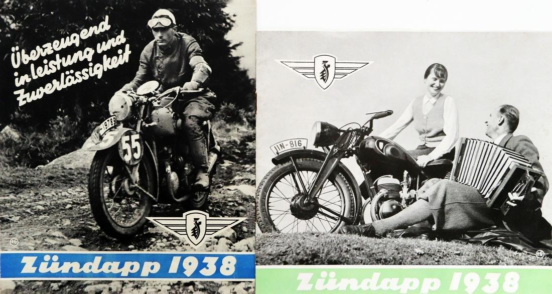 Zündapp 2 x model program 1938