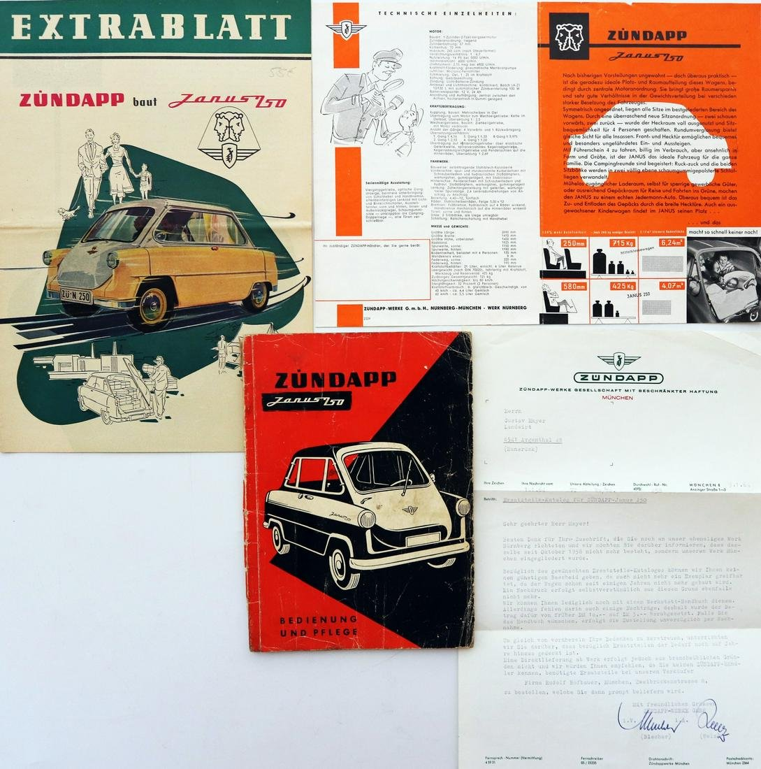 Zündapp 4-pieces type Janus 750 from 1957-1958