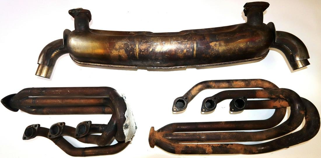 Porsche 3-parts exhaust system for racing models group