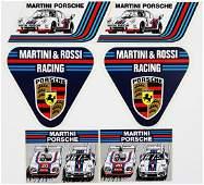 Porsche 6 car stickers original from the 70s