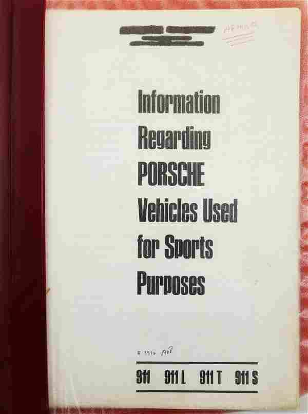 Porsche Information Regarding Porsche Vehicles Used for