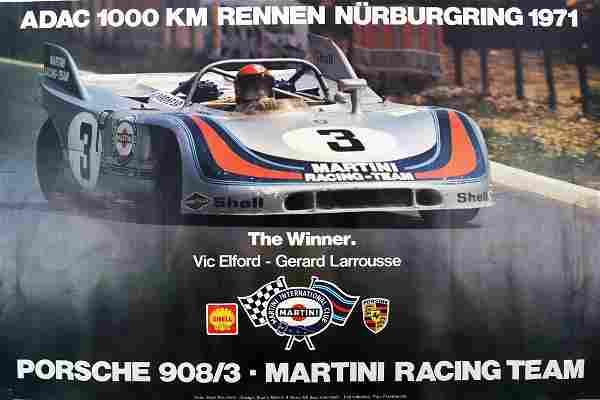 Porsche Poster 'Porsche 908/3 - Martini Racing Team'