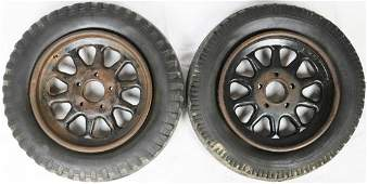 Kronprinz 2 rims 1 x with Continental 1 x with Semperit