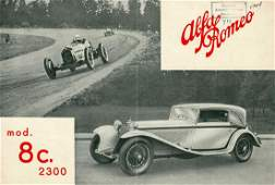 Alfa Romeo Fold-out brochure 8 C 2300 from 1933