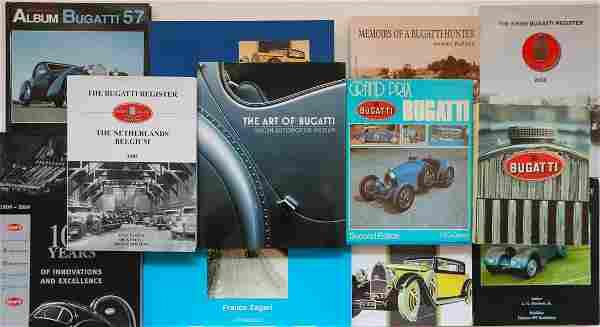 Bugatti 12 books 80s - 2000s