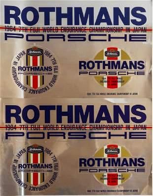 Porsche 2 stickers 'Rothmans 1984 7th Fuji World