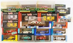 Porsche 20 model cars