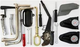 Porsche 20 parts tools, spare parts etc.
