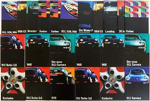 Porsche 23 parts brochures from early - mid 90s